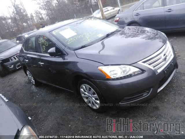 Photo 3N1AB7AP2EL673212 - NISSAN SENTRA 2014