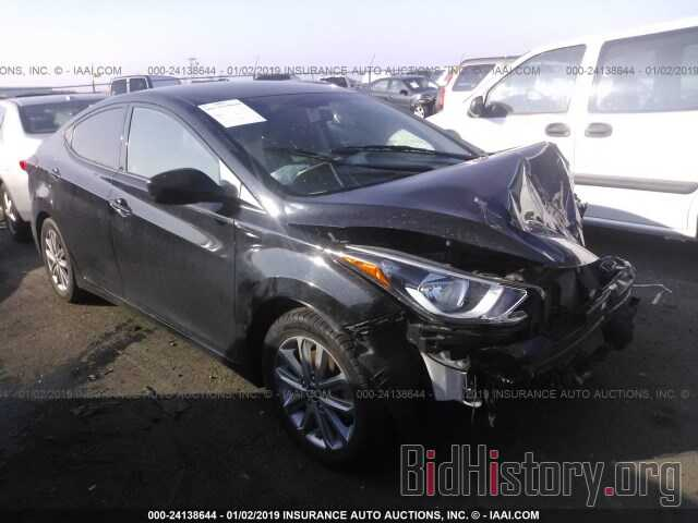 Photo KMHDH4AE6GU600404 - HYUNDAI ELANTRA 2016