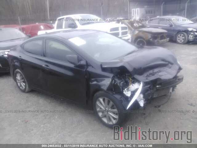 Photo 5NPDH4AE6GH655255 - HYUNDAI ELANTRA 2016