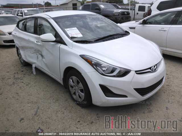 Photo 5NPDH4AE9GH668372 - HYUNDAI ELANTRA 2016