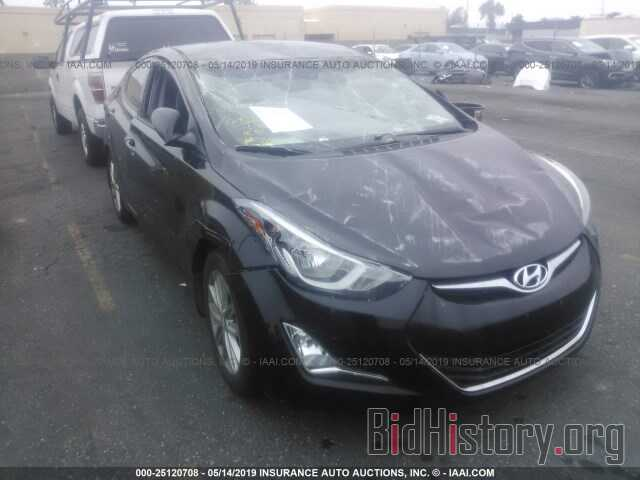 Photo 5NPDH4AE6GH658091 - HYUNDAI ELANTRA 2016