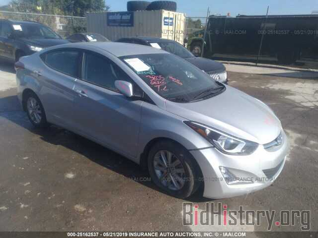 Photo KMHDH4AE7GU483657 - HYUNDAI ELANTRA 2016