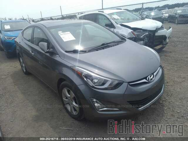 Photo KMHDH4AE3GU605012 - HYUNDAI ELANTRA 2016