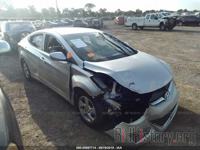 Photo 5NPDH4AE3EH524782 - HYUNDAI ELANTRA 2014
