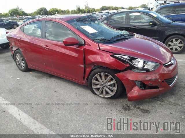 Photo KMHDH4AE2EU048221 - HYUNDAI ELANTRA 2014