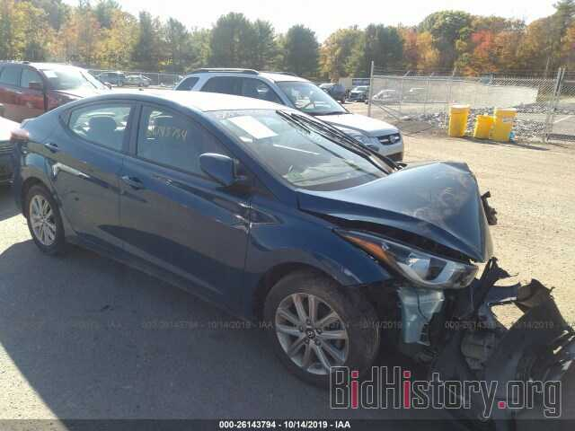 Photo KMHDH4AE3EU054061 - HYUNDAI ELANTRA 2014