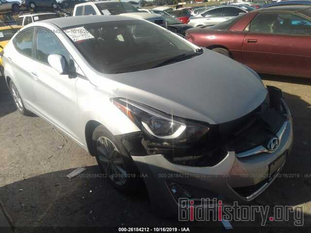 Photo KMHDH4AE2EU214155 - HYUNDAI ELANTRA 2014