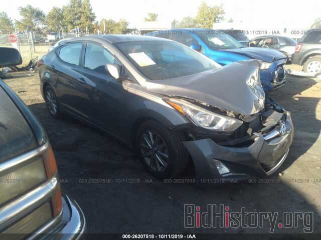 Photo 5NPDH4AEXEH459333 - HYUNDAI ELANTRA 2014