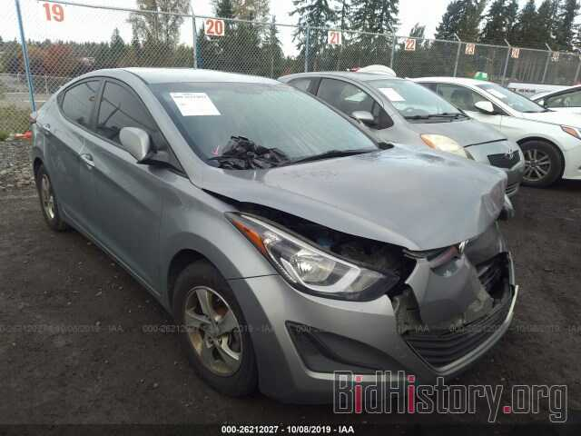 Photo KMHDH4AE9EU207610 - HYUNDAI ELANTRA 2014