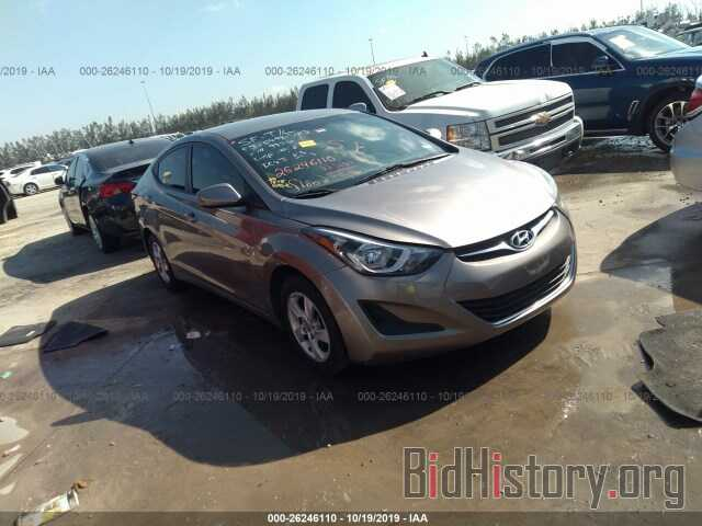Photo 5NPDH4AE5EH519826 - HYUNDAI ELANTRA 2014