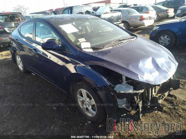 Photo 5NPDH4AE0EH534234 - HYUNDAI ELANTRA 2014