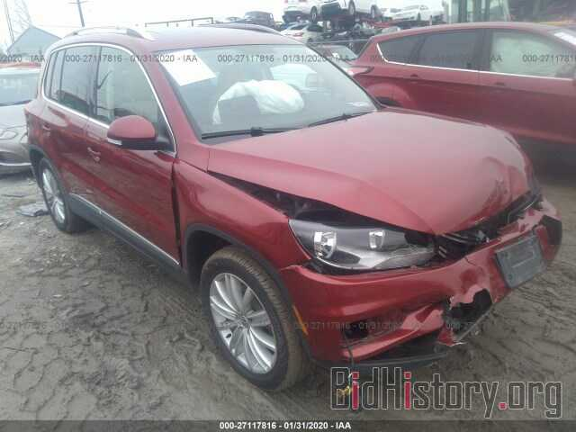 Photo WVGBV7AXXCW005217 - VOLKSWAGEN TIGUAN 2012