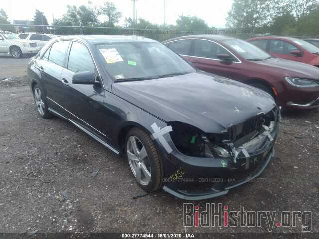 Photo WDDHF8HB9BA489538 - MERCEDES-BENZ E-CLASS 2011